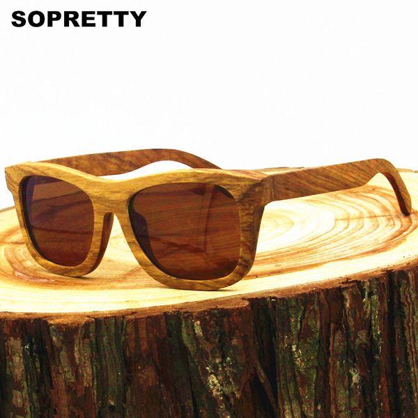 Unisex Handmade Zebra Wood Sunglasses Polarized Mirrored Wooden Fashion Glasses