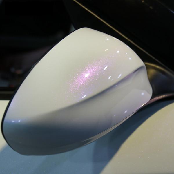 2pcs 50*150cm White Car Body Film Color Change White to Purple Blue Vinyl Wrap Protective Car Styling Stickers