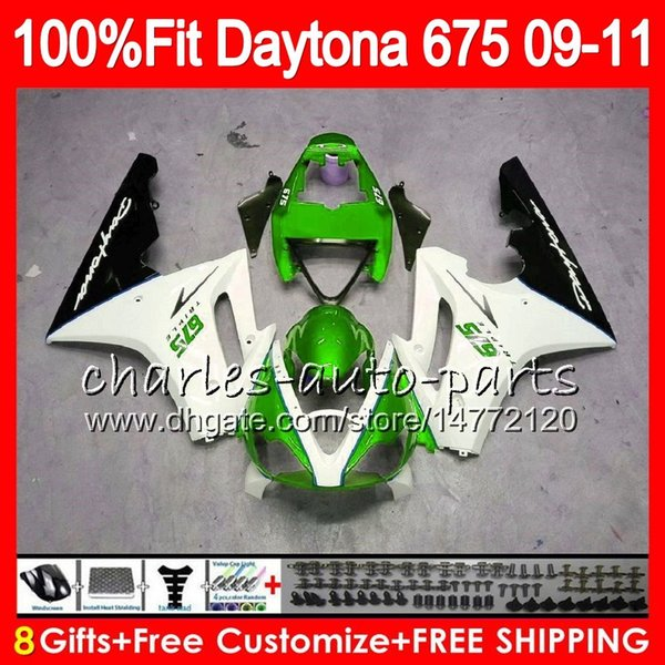 Injection For Triumph Bodywork Daytona 675 2009 2010 2011 2012 107HM85 Daytona 675 09 10 11 12 Daytona-675 hot sale green Daytona675 Fairing