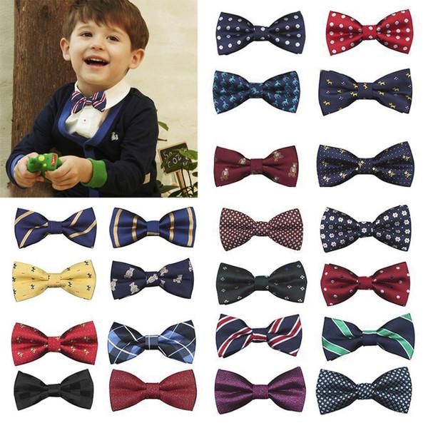 MUQGEW New School Boys Kids Children gentle Baby Bow Tie Adjustable length Wedding Striped Colour Tie Necktie headband