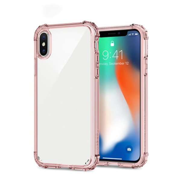 Spigen High Transparent Clear Phone Case Four Corners With Air Bag For Phone 8, 7, 6 Plus SCA420