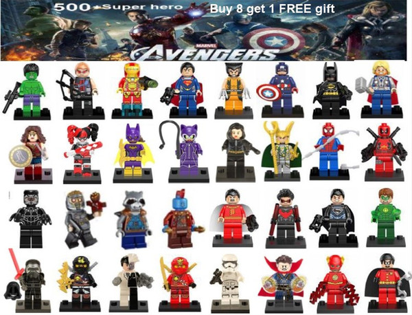 Avengers super hero mini figures kids corner productions blocks Batman Logan Thor superman Hulk Building Blocks Sets Kids toy Bricks gifts