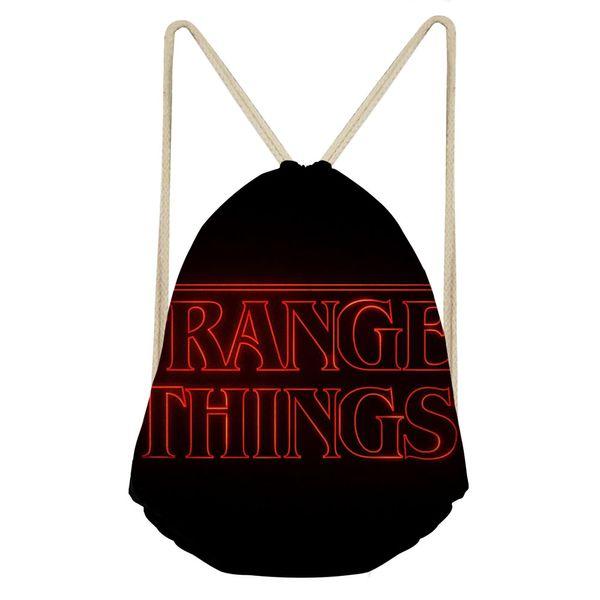 Hot Sale Backpacks Fashion Unisex Stranger things Printing School bag Rucksack drawstring bag Drawstring
