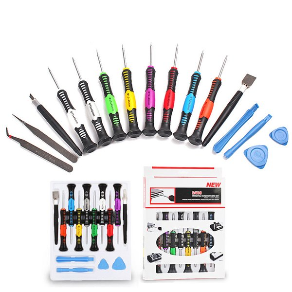 Professional Flexible 16 in 1 Precision Screwdriver Set Mobile Phone PC Tablet Repair Kit Tools 16in1 For iPhone Samsung in stock