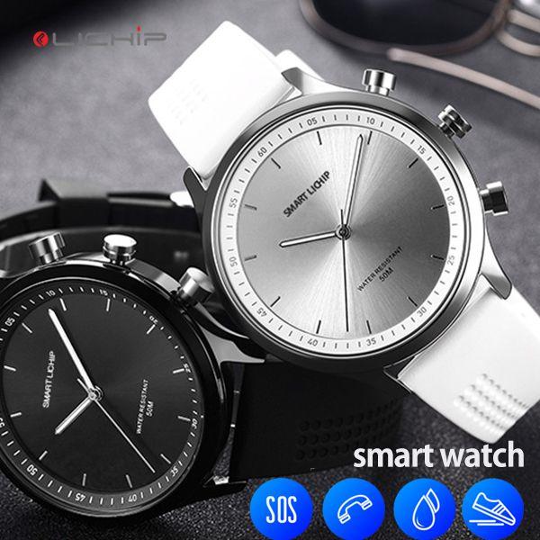 LICHIP LX05 basitlik akıllı İzle pedometre mesaj uyarısı adım kalori SOS çağrı su geçirmez smartwatch telefon severler için su geçirmez