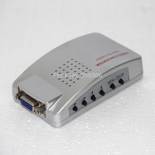 CV2AV VGA to AV S-video VGA converter easy to convert the video signal add more joys for family video equipment