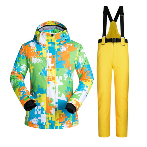 Outdoor Sports Ski Suit Women Windproof Waterproof Thermal Snowboard Snow Skiing Jacket and Pants Skiwear Ice Skating Clothes