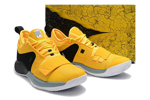 best service dc797 e7fca 2019 2018 New PG1 Men Basketball Shoes Paul George Athletics Yellow And  Black Sneakers PG 1 Los Angeles Home Sport Outdoor Boots Size 40 46 From ...