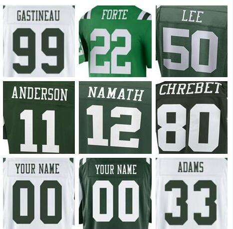 low priced 4e669 60c92 2019 2018 Custom New York Mark Gastineau Jets Jersey Matt Forte Joe Namath  Darron Lee Salute To Service Vapor Authentic American Football Jerseys From  ...