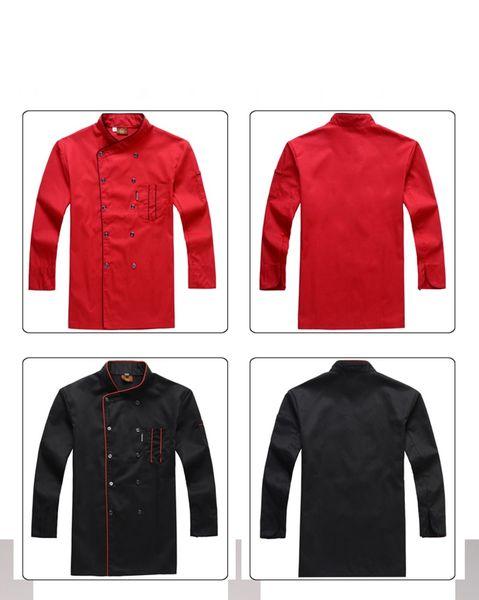 Мужчины шеф-повар рубашка фартук отель общая форма одежда двубортный карман