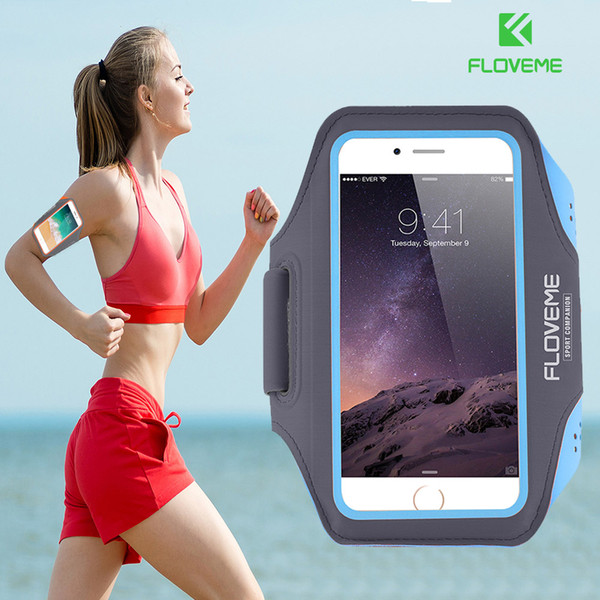 FLOVEME Watreproof Sports Armband Cover For  8 7 6 6s 5 5s SE 4s Running Arm Band 4.7 Inch Phone Case For Hand Accessories