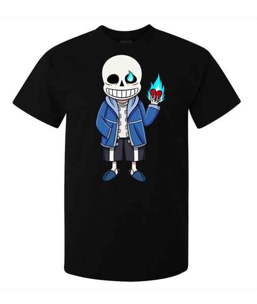 Undertale Video Game Character Skeleton Sans men (woman available) t shirt black