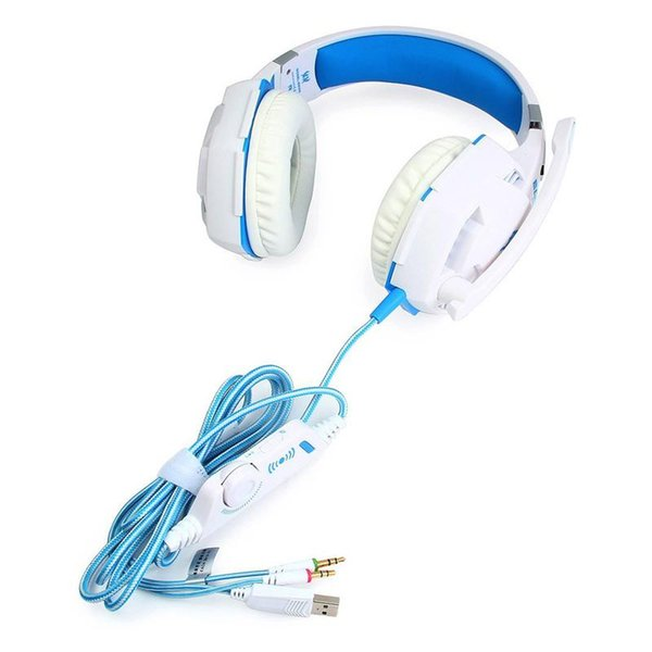 2018 New Gaming Headset Stereo Bass Sound Vibration 2.2m Wired Headphone Noise Reduction Microphone LED Light for PC Gaming with Package