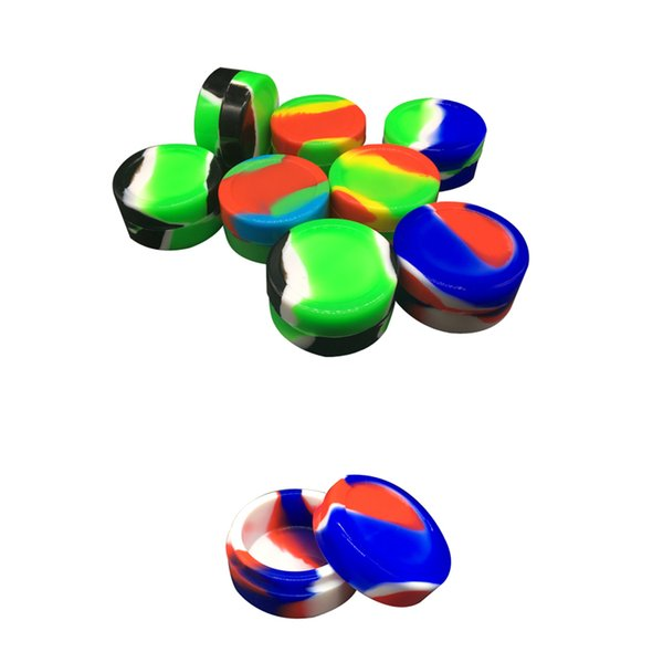Best Wax Containers 22 Ml Round Colorful Large Silicone Jars Container Electronic Cigarette Dab Silicon Box