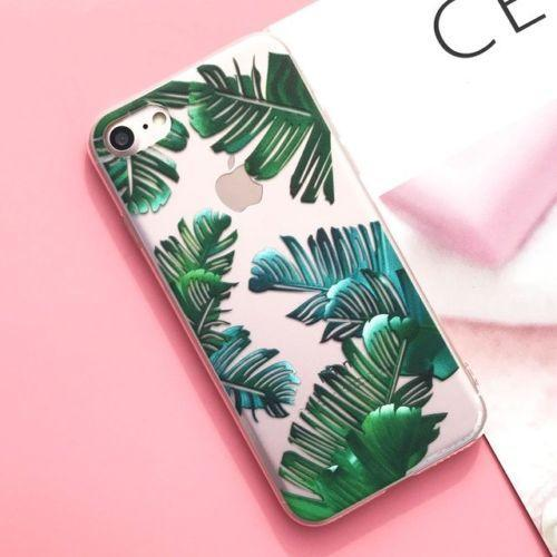 New Design Style Leaf Coque Case Cover for iPhone X 7 8 Plus 6 6S Cell Phone Cases hot sell