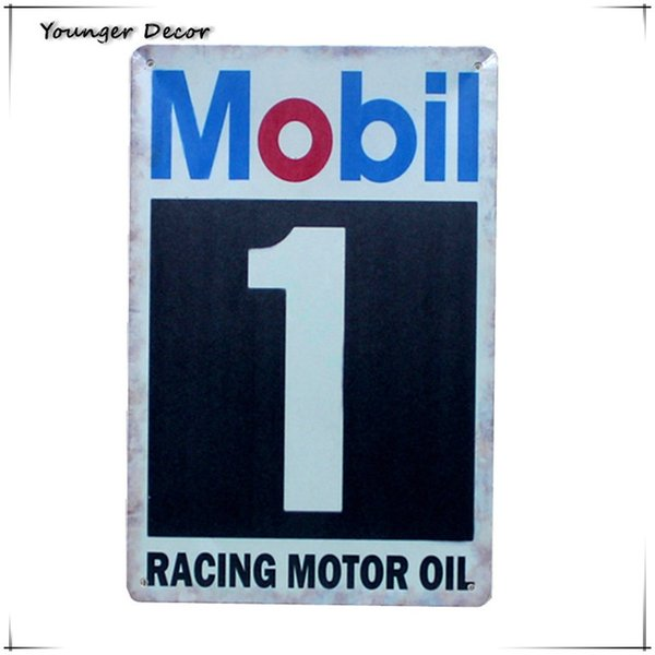American Style Classic Mobil 1 Racing Motor Oil Metal Signs Vintage Home Wall Decor Metal Poster Retro Tin Plaque YA157