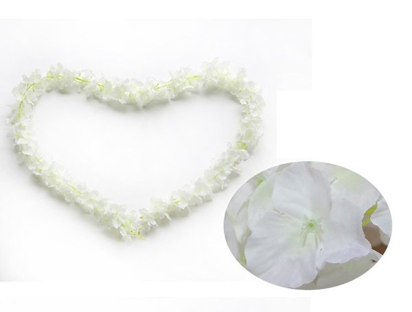 "80""(200cm) Super Long Artificial Silk Flower Hydrangea Wisteria Garland for Garden Home Wedding Decoration 8 Colors Available wen7116"