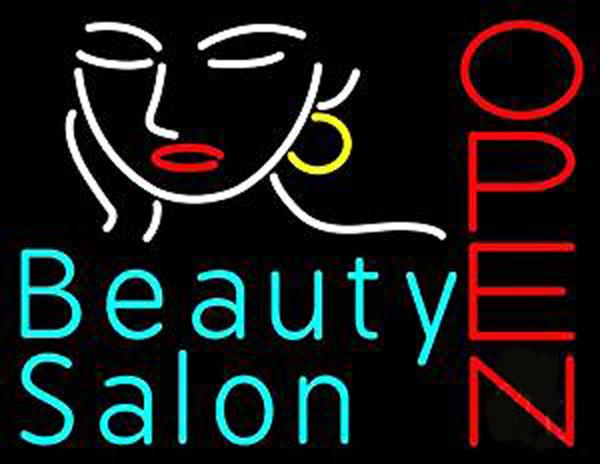 """Beauty Salon Open Neon Sign Custom Handcrafted Commercial Real Glass Tube Shop Store Make Up Company Display Neon Signs 19""""X15"""""""