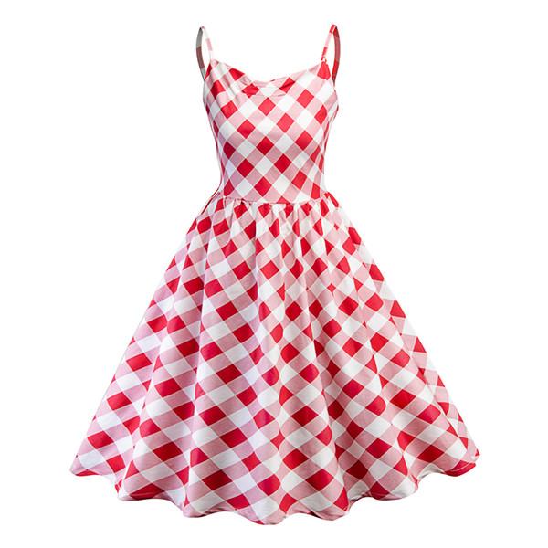 Compre Vestidos Vintage Hepburn Para Mulheres Vestido Barato 60s A Linha De Estilo Scotland Midi Vestido Moda F0639 Faixa Ombro De Sarmit 2212