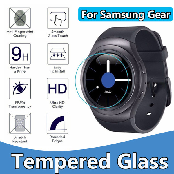 For Samsung Gear s2 s3 Gear 2 R380 0.3mm 2.5D 9H Tempered Glass Flim Screen Protector NO Package