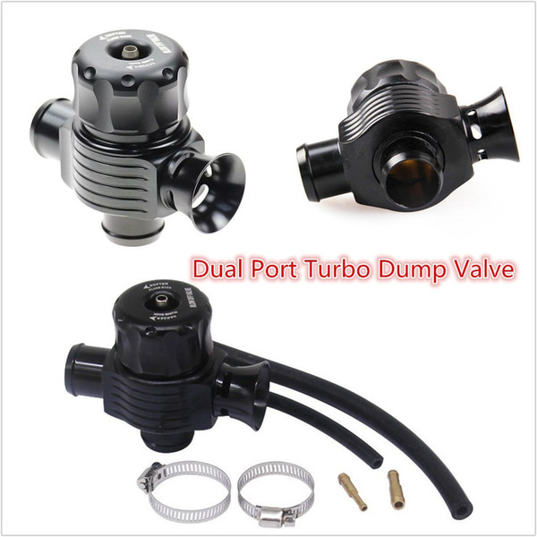 25mm Aluminum Dual Port Blow Off Turbo Bov Valve BLACK Diverter Dump Valve  Supercharger Turbocharger Superchargers And Turbochargers From Rickyshop,