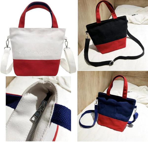 top popular Brand Designer Handbags women luxury fashion tote bag embroidery letter canvas shoulder bags travel duffle bags handbag 2019