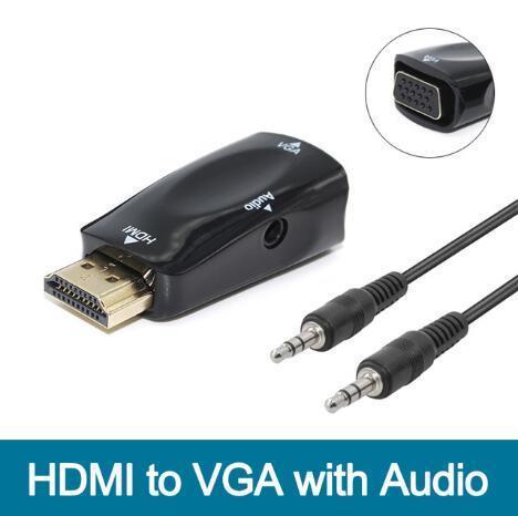 Convertitore di conversione audio video V1.4 1080p HDMI a VGA con cavo audio Maschio a femmina per PC / TV / Xbox 360 PS3