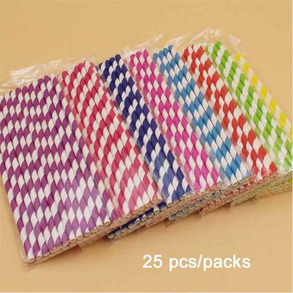 1000pcs Colorful Paper Drinking Straws Birthday Wedding Decorative Party Event Hawaiian Holidays Luau Sticks KTV Supplies Creative Drinking
