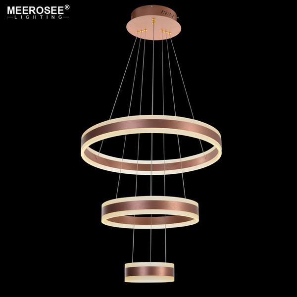 Modern 3 Circle Rings LED Pendant Lights For Living Room Dining room LED Lustre Rose Gold Pendant Lamp Hanging luminaire
