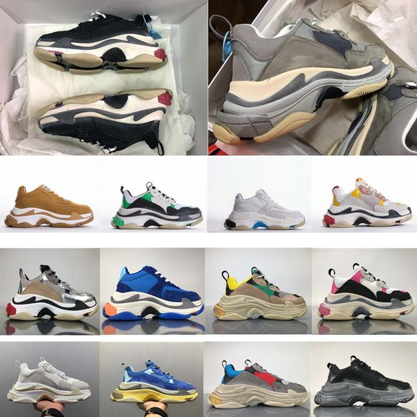 Most Trendy 2018 Top Quality New Color Triple-S Sneakers Men/Women Running Shoes Sports Shoes Standard Size 36-45