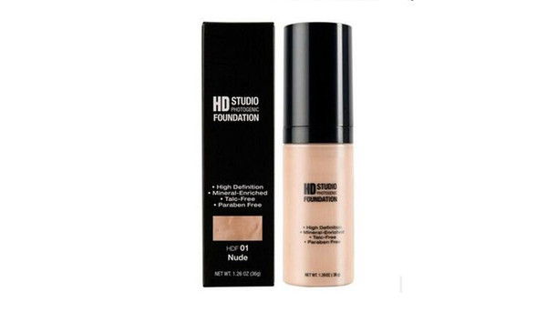 High Definition Mineral-Enriched NYX HD Studio Foundation Cosmetics Pro face Makeup for Women 6 colors available DHL Free