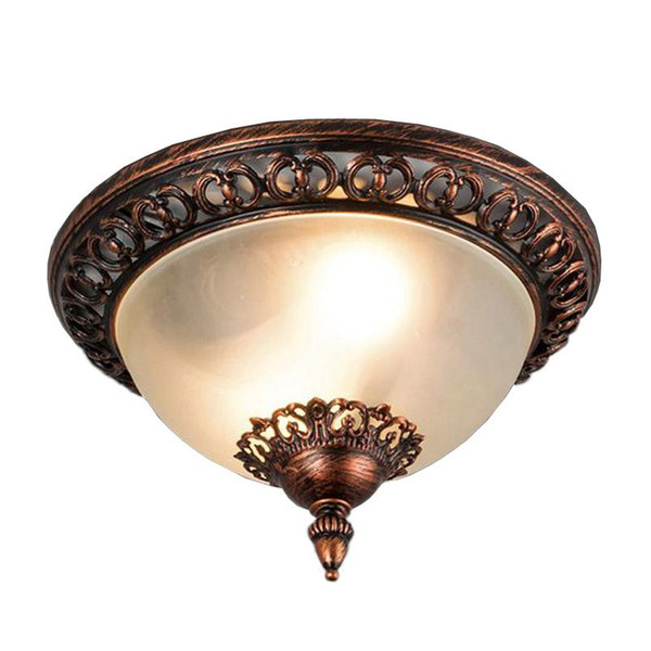 OOVOV European Retro Bedroom Glass Ceiling Light Classic Study Room Ceiling Lamps Dining Room Ceiling Lamp
