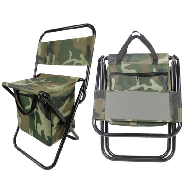 Chairs Travel Outdoor Portable Multifunctional Foldable Bag Chair Backpack Fishing Stool Chair Fishing Chairs