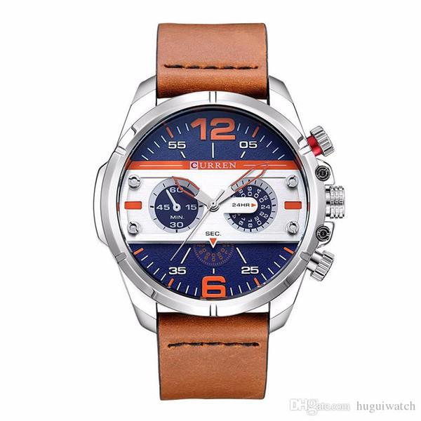 71a6baa14d4 2018 Curren relógios homens marca de luxo de alta qualidade relógio dos homens  relógio masculino esportes