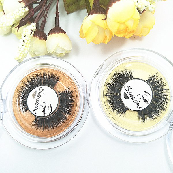 2018 Seashine Private label mink strip 3D mink eyelashes false lashes Thin and soft mink hair natural looking free shipping