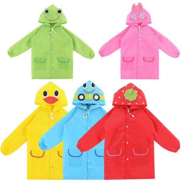 1PC Kids Cartoon Rain Coat Cute Children Raincoat Rainwear/ Rainsuit, Kids Funny Waterproof Animal Raincoat Student Poncho
