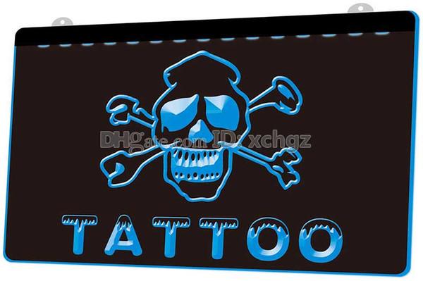 [F111] Tattoo Open NEW 3D Gravura LED Light Sign Personalizar sob demanda 8 cores
