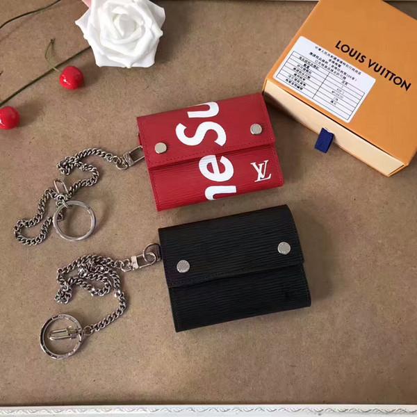 2019 M64212 NEW HOT SALE MEN Women Clutch Wallet Leather Purse Bag Key Chains WALLETS PURSE Mini Clutches Exotics EVENING CHAIN Belt Bags