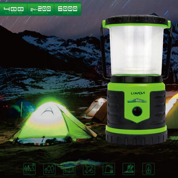 5W 400LM recargable ultra brillante Camping Lanterna 6000mAh Mobile Power Bank 6 modos de iluminación White Strobe rojo