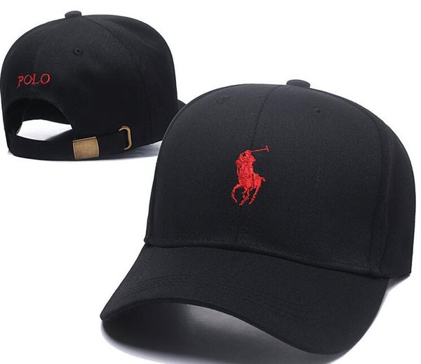 2018 New Arrival Cheap wholesale outdoor leisure cartoon bear the new polo black baseball cap hockey gorras retro fashion casquette bone hat