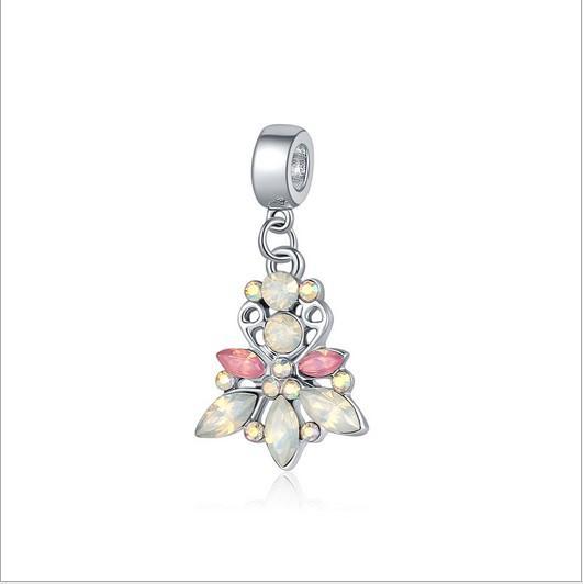 Serve Para Pandora Pulseiras 30 pc Étnico Pingente De Cristal de Prata Charme Bead Dangle Solta Pérolas Para Atacado Diy Europeu Sterling Colar mulheres