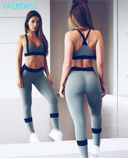 2pcs Set Sexy Sport Suit Women Bra Top Workout Pants Sportswear Active Wear Gym Leggings GYM Clothes Yoga Set Women Fitness Wear