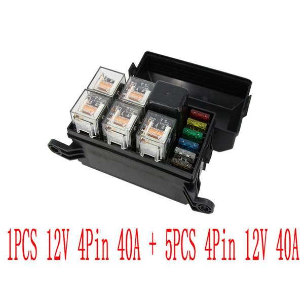 2019 6 Ways Auto Fuse Box Assembly With 12V 4Pin 40A + 4Pin 12V 40A Relay  Auto Car Insurance Tablets Fuse Box Mounting Fuse Box From Lvkuang520,