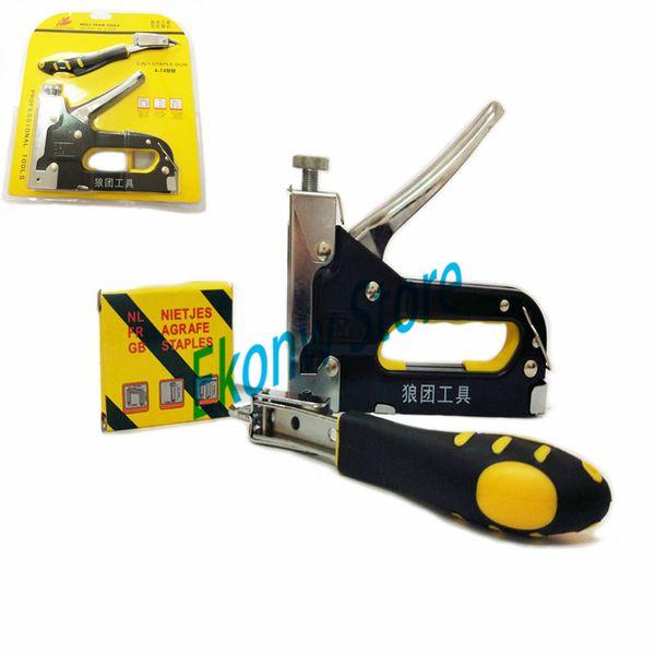 Plier stapler manual metal hand stapler with staples stapling office supplies Fi