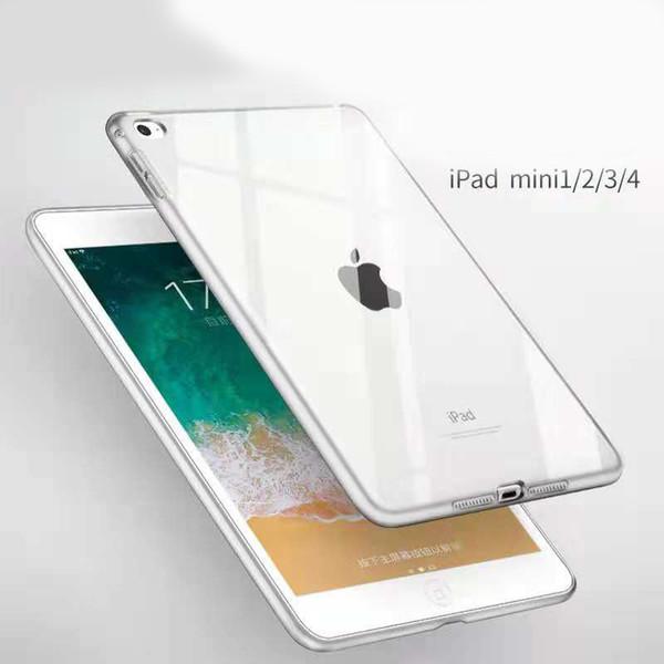 For Ipad Mini 1/2/3/4 Ipad TPU Clear Transparent Soft Case Skin Silicon Back Cover Slim For Apple Ipad