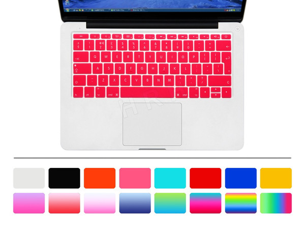 For macbook air 12 inch A1534 Protector Sticker 12'' film Euro version English language letter Silicone keyboard cover