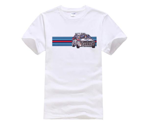 DIY style mens t shirts Men'S Lastest 2017 Simple Style T Car Rally Shirt Men's Turbo Lancia World Che Guevara T Shirt