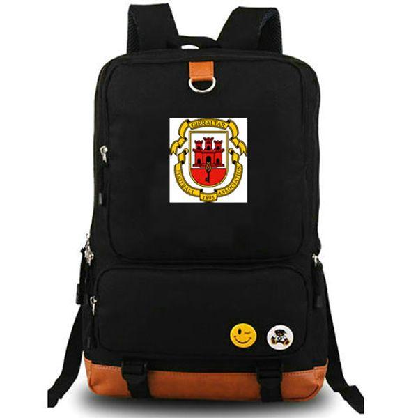 Gibraltar daypack Strait country team school bag Good use Football badge day pack Computer rucksack Sport schoolbag Outdoor backpack