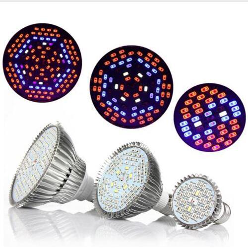 Led Grow luci 30W 50W 80W Full Spectrum Led Pianta Grow Lamps E27 LED Orticoltura Coltiva la luce per Garden Flowering Hydroponics System
