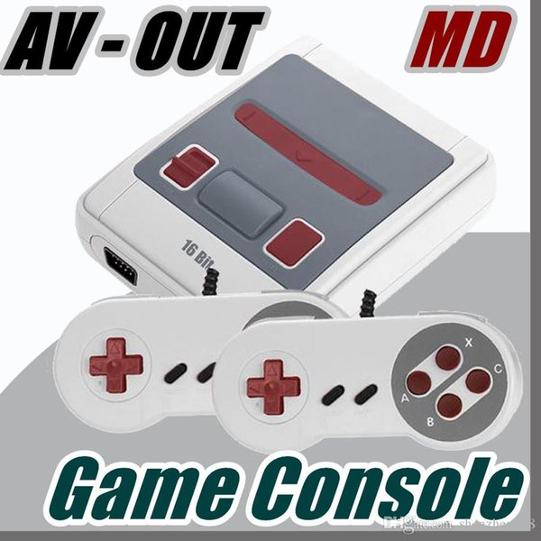 2018 AV-OUT Super MINI MD Video Game Console SG-167 16 Bit Handheld Game Player For Sega with retail boxs J-JY
